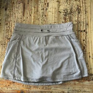 🌟2 for $10!!Gray striped skirt with shorts under